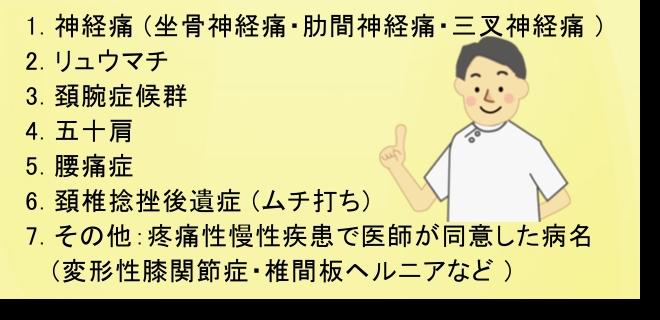朝霞市 訪問リハビリマッサージ 訪問鍼灸7つの疾患 保険適用